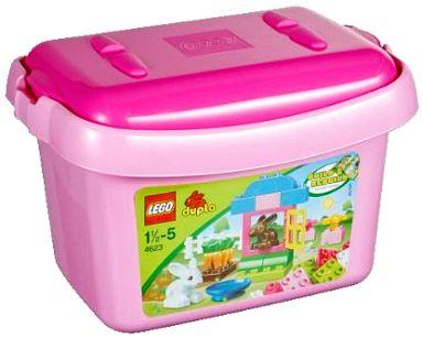 【中古】おもちゃ LEGO 基本セットピンクのコンテナ 「レゴ デュプロ」 4623