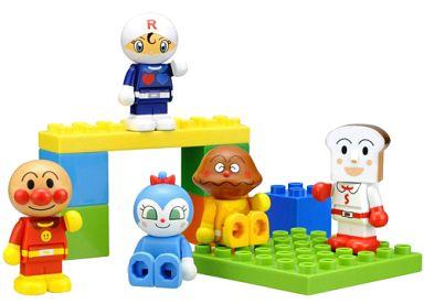 【中古】おもちゃ ブロックといっしょに遊べる!わいわいブロックドールセット 「それいけ!アンパンマン」