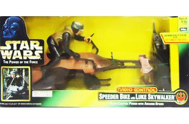 【中古】ラジコン その他(本体) ラジコン SPEEDER BIKE with LUKE SKYWALKER -スピーダーバイク&ルーク・スカイウォーカー- 「スター・ウォーズ」 THE POWER OF THE FORCE 49MHz仕様