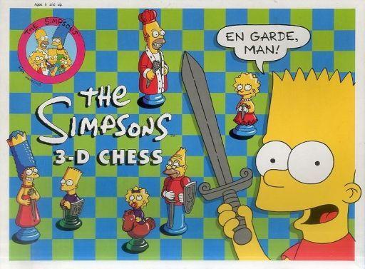 【中古】おもちゃ 3Dチェス 「ザ・シンプソンズ」