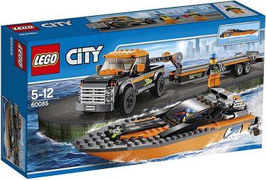 【中古】おもちゃ LEGO パワーボートと4WDキャリアー 「レゴ シティ」 60085