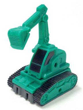 【中古】おもちゃ 2.ショベルカー(緑) 「合体建機」