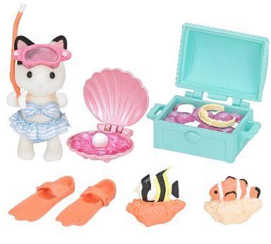 【中古】おもちゃ 海の宝さがしセット 「シルバニアファミリー」