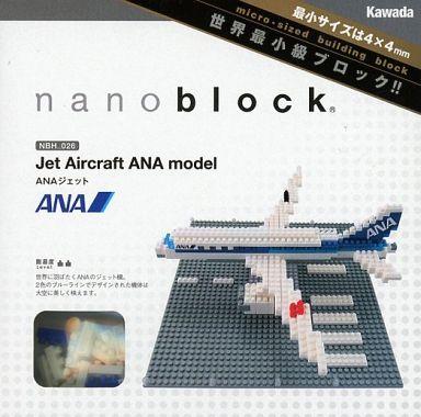 【中古】おもちゃ ナノブロック NBH-026 ANAジェット