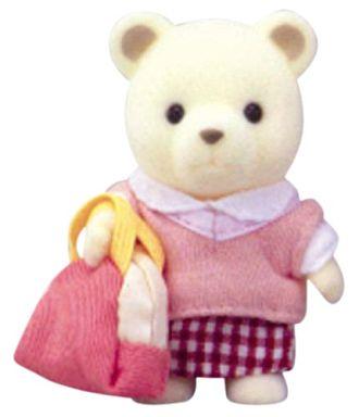 【中古】おもちゃ 留学生シロクマの女の子 「シルバニアファミリー」