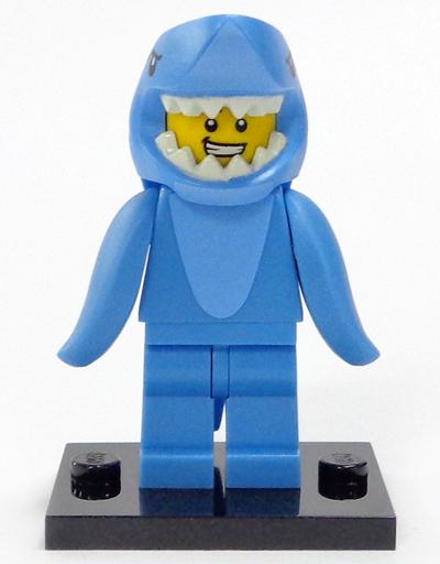 【中古】おもちゃ サメの着ぐるみを着た男 「LEGO レゴ ミニフィギュア シリーズ15」 71011