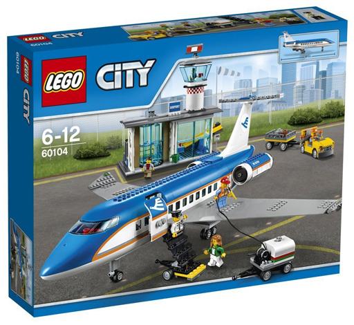 【新品】おもちゃ LEGO 空港ターミナルと旅客機 「レゴ シティ」 60104