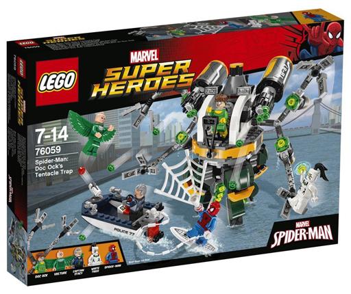 【中古】おもちゃ LEGO スパイダーマン:ドック・オックの触手の罠 「レゴ スーパー・ヒーローズ」 76059