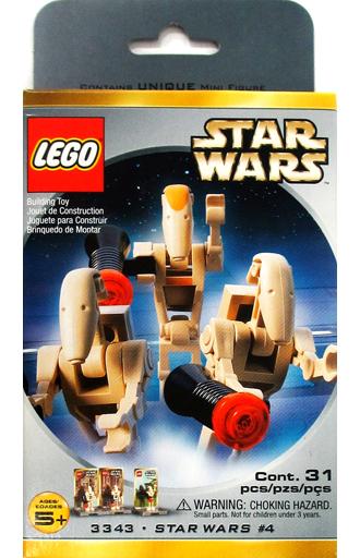 【中古】おもちゃ LEGO バトルドロイド ミニフィグパック 「レゴ スター・ウォーズ」 3343