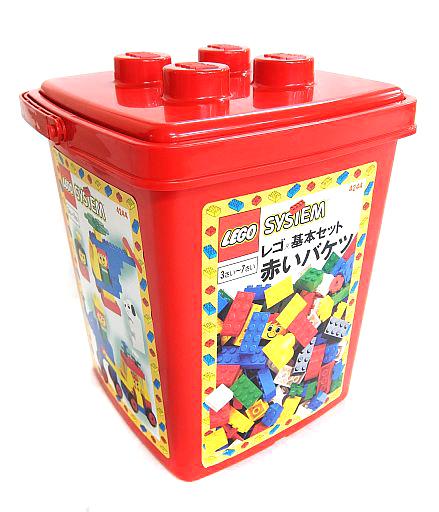 【中古】おもちゃ LEGO 赤いバケツ 「レゴ 基本セット」 4244