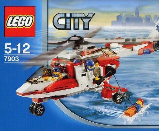 【中古】おもちゃ LEGO レスキューヘリコプター 「レゴ シティ」 7903