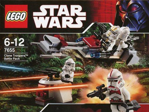 【中古】おもちゃ LEGO クローン・トルーパー バトル・パック 「レゴ スター・ウォーズ」 7655