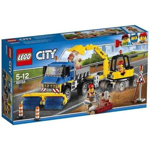 【新品】おもちゃ LEGO 道路清掃車とパワーショベル 「レゴ シティ」 60152