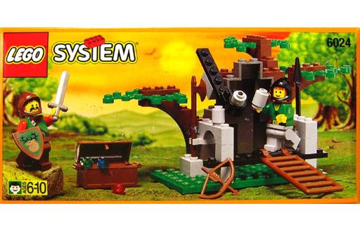 【中古】おもちゃ LEGO エルクウッドのかくれ家 「レゴ システム」 6024