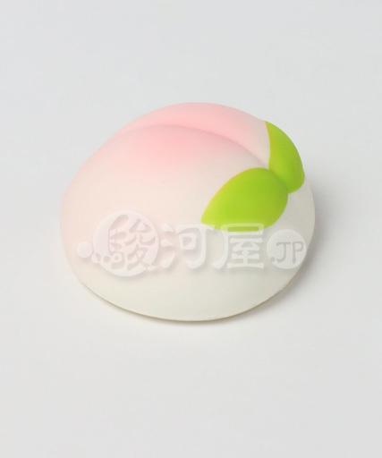 【新品】スクイーズ(食品系/おもちゃ) 野いちご 柔らか桃まん マザーガーデン