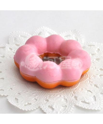 【新品】スクイーズ(食品系/おもちゃ) 野いちご 柔らかもちもちドーナツ イチゴ マザーガーデン