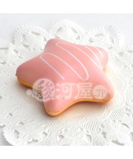 【新品】スクイーズ(食品系/おもちゃ) 野いちご 柔らかお星様いちごドーナツ マザーガーデン