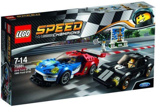 【中古】おもちゃ LEGO 2016 フォード GT & 1966 フォード GT40 「レゴ スピードチャンピオン」 75881