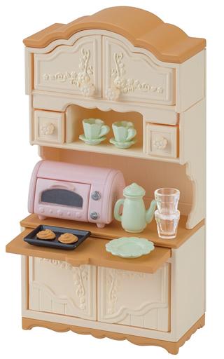 【新品】おもちゃ 食器棚・トースターセット 「シルバニアファミリー」