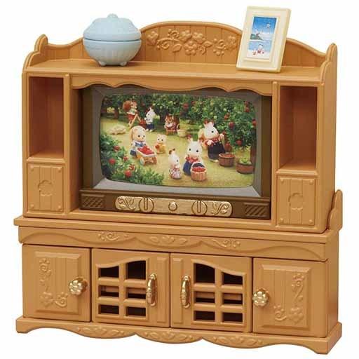 【新品】おもちゃ テレビ・テレビ台セット 「シルバニアファミリー」