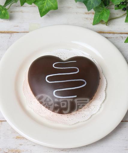 【新品】スクイーズ(食品系/おもちゃ) 野いちご 柔らかハートドーナツ チョコ マザーガーデン