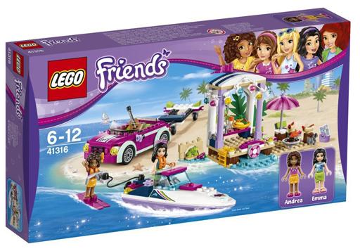 【中古】おもちゃ LEGO ハートレイクのビーチバカンス 「レゴ フレンズ」 41316