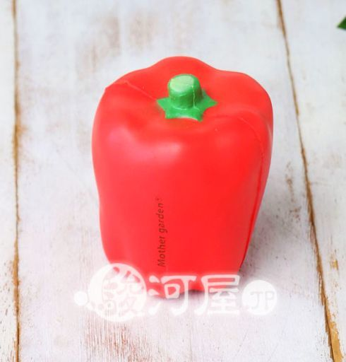 【新品】スクイーズ(食品系/おもちゃ) 野いちご 柔らかパプリカ 赤 マザーガーデン