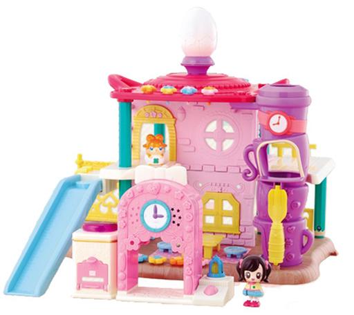【中古】おもちゃ こころといっしょ!音と灯りでもっとたのしい おおきなここたまハウス ギフトセット 「かみさまみならい ヒミツのここたま」