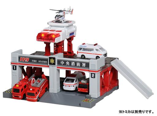 【中古】おもちゃ トミカタウン ビルドシティ サウンドライト 消防署