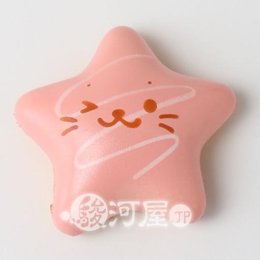 【新品】スクイーズ(食品系/おもちゃ) しろたん 柔らか星型ドーナツ 桃 マザーガーデン