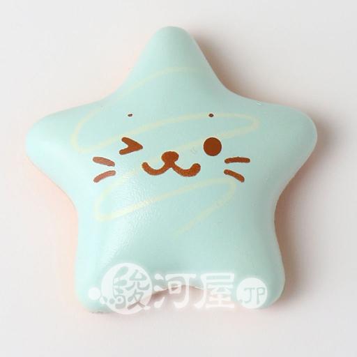 マザーガーデン 新品 スクイーズ(食品系/おもちゃ) しろたん 柔らか星型ドーナツ 水色 マザーガーデン
