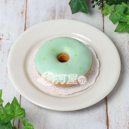 【新品】スクイーズ(食品系/おもちゃ) 色が変わるドーナツ 抹茶→ソーダ マザーガーデン
