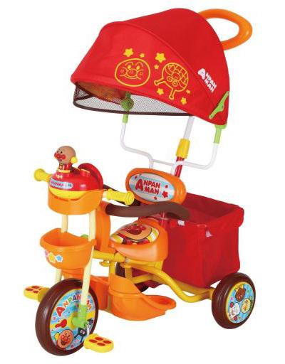 【新品】おもちゃ ブザー付おでかけ三輪車 それいけ!アンパンマン デラックスII オレンジ 「それいけ!アンパンマン」