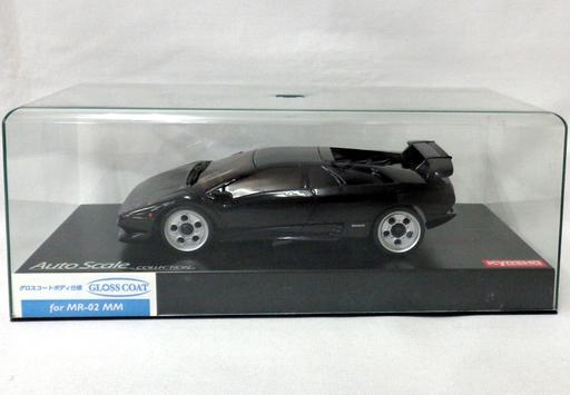 【中古】ラジコン 車(パーツ・アクセサリ) ラジコン用 1/27 Lamborghini Diablo VT(ブラック) グロスコートボディ仕様 ミニッツレーサー用替えボディ 「オートスケールコレクション」 [MZG202BK]