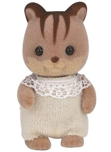 【中古】おもちゃ くるみリスの赤ちゃん(服:ベージュ) 「シルバニアファミリー」