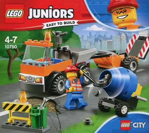 【中古】おもちゃ LEGO シティ どうろほしゅう車 「レゴ ジュニア」 10750