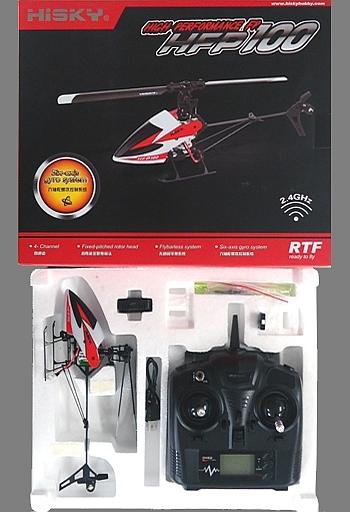 【中古】ラジコン 飛行機(本体) ラジコン HFP100(ホワイト×レッド) 「マイクロサイズ 電動インドアヘリシリーズ」 2.4GHz仕様 [20024K]