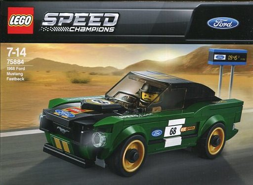 【中古】おもちゃ LEGO 1968 フォード・マスタング・ファストバック 「レゴ スピードチャンピオン」 75884