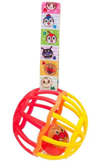 【予約】知育・幼児玩具 ストラップ付きしゃかしゃかボール レッド 「 それいけ!アンパンマン」
