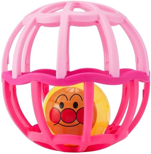 【予約】知育・幼児玩具 しゃかしゃかボール ピンク 「 それいけ!アンパンマン」