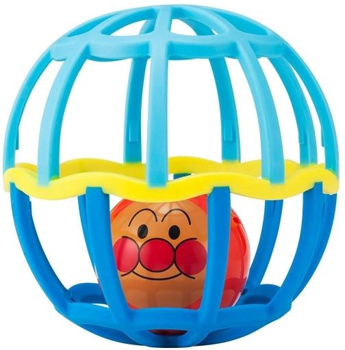 【予約】知育・幼児玩具 しゃかしゃかボール ブルー 「 それいけ!アンパンマン」