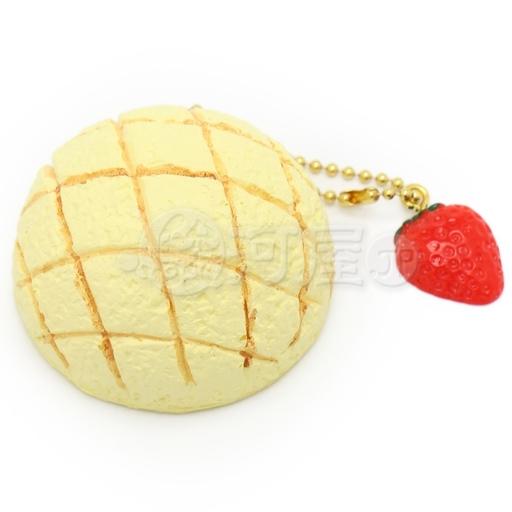 マザーガーデン 新品 スクイーズ(食品系/おもちゃ) スクイーズ 柔らかキーホルダー メロンパン 白 マザーガーデン
