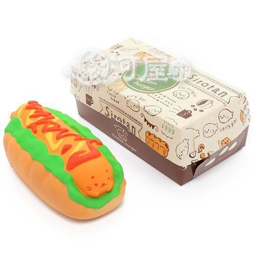 マザーガーデン 新品 スクイーズ(食品系/おもちゃ) しろたん 柔らかホットドッグ マザーガーデン