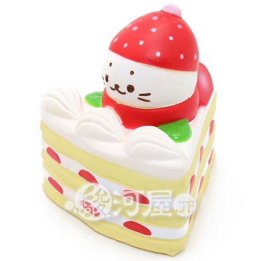マザーガーデン 新品 スクイーズ(食品系/おもちゃ) しろたん 柔らかショートケーキ マザーガーデン