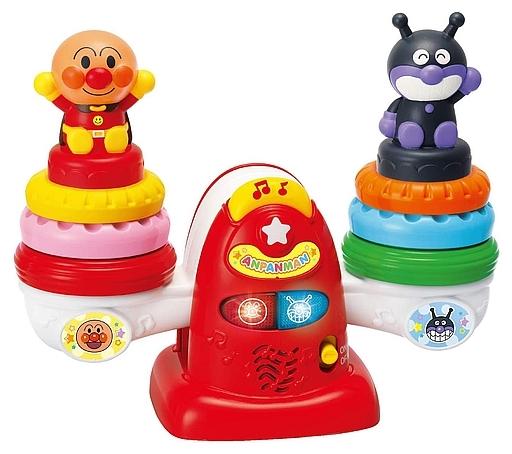 ジョイパレット 新品 おもちゃ かさねてユラユラ 育脳アンパンマンシーソー 「それいけ!アンパンマン」