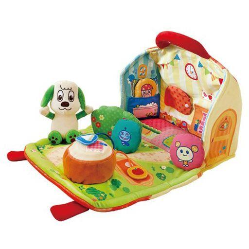 ジョイパレット 新品 おもちゃ ひろげてあそぼ! かくれんぼやわらかハウス 「ワンワンとうーたん」