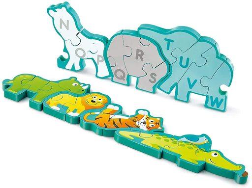 カワダ 新品 おもちゃ Hape アルファベットどうぶつパズル 「ハペ」 [E1627]