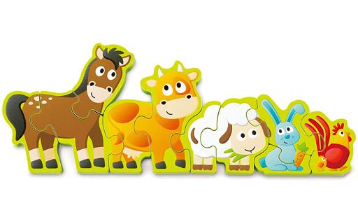 カワダ 新品 おもちゃ Hape 数字のどうぶつパズル 「ハペ」 [E1628]