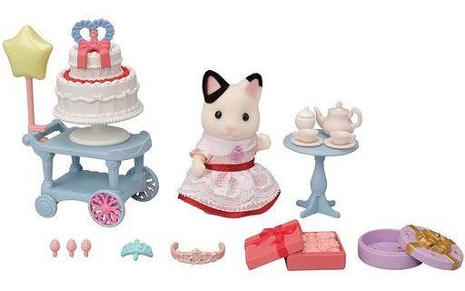エポック社 新品 おもちゃ スイートパーティーセット-チャコールネコの女の子- 「シルバニアファミリー」