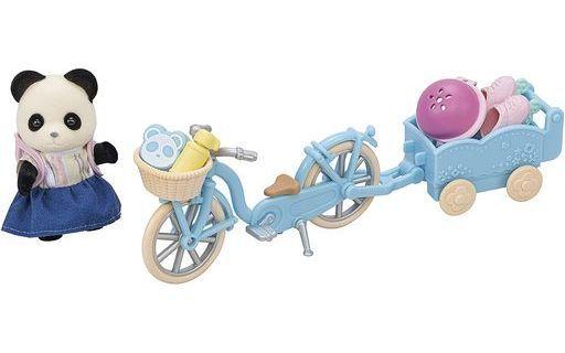 エポック社 予約 おもちゃ るんるんサイクリングセット-パンダの女の子- 「シルバニアファミリー」